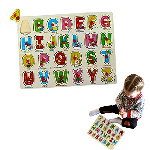 Dazzling Toys Kids Favorite Alphabet Wooden Puzzle.