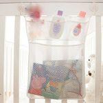 Baby Bath Bathtub Toy Mesh Net Storage Bag Organizer Holder Bathroom Tidy Suction Net,13 X 18 inches