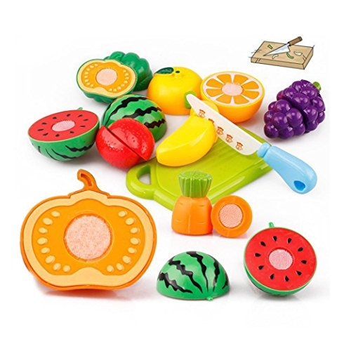 20PC Cutting Fruit Vegetable, Misaky Pretend Play Children Kid Educational Toy