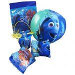Disney Pixar Finding Nemo-Dory Ultimate Beach Gift Bundle -Beach Pail, Goggles, Beach Ball, Arm Floaties, Sling Carry Bag