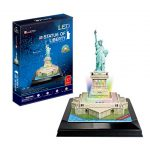 CubicFun L505h Statue of Liberty (with LEDs) Puzzle, 37 Pieces