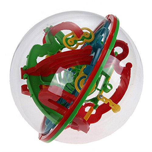Kids Toy 3D Labyrinth Magic Rolling Ball Puzzle Brain Teaser Game Sphere Maze(Large)