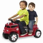 Radio Flyer Battery-Operated Fire Truck for 2 with Lights and Sounds - Children's Powered Ride-Ons - Battery and charger included by Walmart