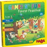 HABA Games N' Fun Forest Festival - Read Aloud Stories, Games & Puzzles Ages 2 + (Made in Germany)