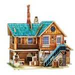 Creative Assemble Puzzle Toys Child Early Education Wooden 3D Puzzle House American Workshop