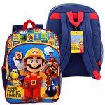 "16"" SUPER MARIO MAKER BACKPACK Kids Boys School Large Bag Bookbag NEW"