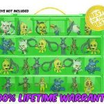 Five Nights At Freddys Carrying Case - Stores Dozens Of Figures - Durable Toy Storage Organizers By Life Made Better - Green