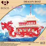 3D Puzzle Dragon Boat, Handmade Assemble Puzzle Toys, Educational Wooden Hand Craft Construction Kit, Christmas Gift For You