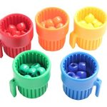 Cute Tiny Colored Cups and Beads - Preschool Color Sorting Cups and Fine Motor Activity - OT Busy Bag - Preschool and Toddler Sorting Activity