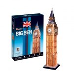 CubicFun World's Great Architectures C094h UK Big Ben (London) 3D Puzzle, 30 Pieces