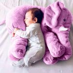 Kenmont Elephant Throw Pillows Baby Cushions Nursery Plush Toys kids Doll Lumbar Pillow for Children gifts decoration (Purple)