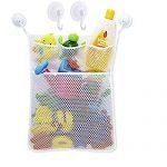 "21""x17"" Bath Tub Toy Storage Mesh Bag Tidy Suction Net,Toy Mesh Net Storage Bag,Baby Bath Toy Organizer"