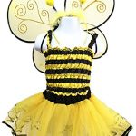 4 Different Themes Toddler Girl's Dress-Up or Costume Wing & Tutu Sets – Bee w/ Shirt