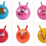 Dengguoli Ride Sit on Inflatable Bouncing Jump Ball 25cm Sport Cartoon Animal Educational Toy Ball for Baby Kids