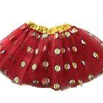 Rush Dance Superhero Halloween Girls DressUp Princess Fairy Costume Recital Tutu (Red & Yellow F1ash)