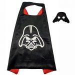 FASHION ALICE Star Wars Darth Vader Be CAPE & MASK SET,Halloween Costume Cloak for Child (Darth Vader,Black)