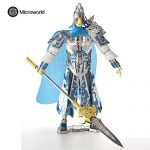 2017 Microworld 3D Metal Puzzle ZhaoYun Knight Building Model Kit R002 DIY 3D Laser Cut Jigsaw Toys For Audit