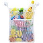 YuKing Bath Baby Toy Organizer Bathroom Tub Storage Mesh Bag With 2 Suction Cups,Bath Tub Toy Storage Mesh Bag Tidy Suction Net (Large)