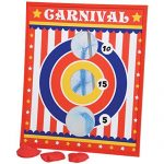 Carnival Circus Theme Bean Bag Toss Cornhole Game Set