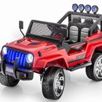 New Premium Jeep Wrangler Style 12v Ride on Toy, Car for Kids with Remote Control by KidsVipOnline