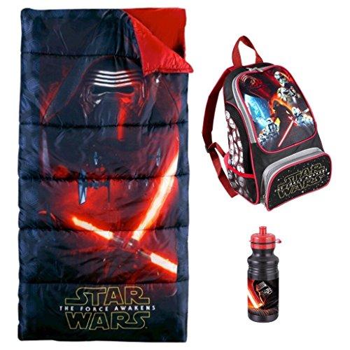 Star Wars The Force Awakens Sleeping Bag, Backpack & Kylo Ren Water Bottle