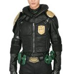 Deluxe Judge Dredd Helmet with Costume Outfit Suit for Adult Halloween L