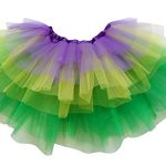 So Sydney Adult Plus Kids Size 6 LAYER FAIRY TUTU SKIRT Halloween Costume Dress (M (Kid Size), Mardi Gras)