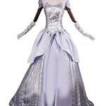 Cinderella Costume for Women, Adult Princess Cosplay Dress Halloween Christmas Fancy Ball (XL, Dress Only)