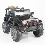 Kids 12V Electric Power Ride On Jeep Truck with Big Wheels RC / Remote Control, Black
