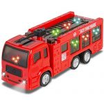 Best Choice Products Kids Toy Fire Truck with Electric Flashing Lights, Siren Sound, Bump & Go Action, Red by Best Choice Products