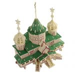 New arrive Chalet DIY Educational 3D Wood Houses Puzzle Kids Wooden Toy House Puzzle Model House Russian Christmas Grand
