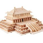 Arsmt Puzzles 3D Wooden Forbidden City IQ Test Intelligence Jigsaw Logic Brain Teaser Educational Toy for Kids,Teens and Adults