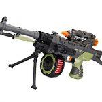 LilPals 17 Inch Rapid Fire Commando Recon II Toy Machine Gun – With Dazzling Light, Amazing Sound & Unique Action