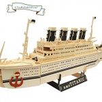 3D Titanic Cruise Ship Natural Wood Puzzle Assembly DIY Wooden Puzzle Brain Teaser Consturction Kit by TaoPuzzle