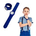 Toy Cubby Blue Rubber Snap on Slap Wrist Watch Bracelet Kids Adult