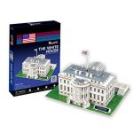 CubicFun World's Great Architectures C060h US The White House (Washington) 3D Puzzle, 65 Pieces