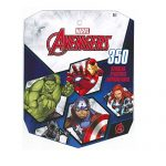 Marvel Avengers Sticker Book for Kids, featured Incredible Hulk, Captain America, Iron Man, Thor, Black Widow, Hawkeye (over 350 stickers)-1 PACK