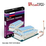 """3D Puzzle of the The Spasskaya Tower CubicFun S3035h 27 Pieces """"S"""" series"""