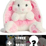 "Tutu Cutie White Bunny: ~16"" Aurora World Lopsie Wopsie Series + 1 FREE Aurora Mini-Plush Charm Bundle [087255]"