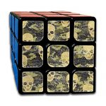 Camo Skulls Camouflage Speed Cube 3x3x3 Sticker Speed Cube Smooth Magic Cube Puzzle