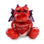 "Aurora World Val Sayings Light My Fire Dragon Plush Animal, Multicolor, 12"""