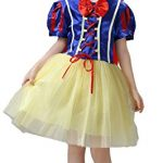 Cohaco Girl's Princess Snow White Style Costume Party Dress with Tiara Clip (US 4-5)