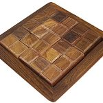 Jigsaw Puzzle Handmade Pentominoes Wooden 12 Hardwood Pieces for Kids and Adults - 5 Inch