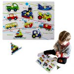 Dazzling Toys Kids Favorite Various 2 to 4 Inch Vehicles Wooden Puzzle.