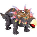 Walking Triceratops Dinosaur Toy Figure with Lights and Loud Roar Sounds,Real Movement for Children(Battery Powered)