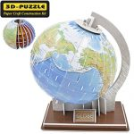 GBD Creative Magic 3D Jigsaw Puzzle Globe Building Models Brain Teaser Educational Game Toys Halloween Christmas Gifts for Kids Children Adults DIY The Earth Puzzles Ball-49 Pieces