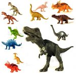 Dinosaur Hand Toy Set for Toddlers, Large 12 Piece Educational for Kids, Boys and Girls, Featuring Tyrannosaurus Rex, Stegosaurus, Brontosaurus and More