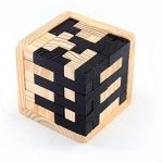 3D Wooden Brain Teaser Puzzle Jigsaw Puzzles 54 T-Shape Pieces with Tetris Fit for Kids and Adults