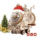 ROBOTIME Wooden 3D Puzzle Robot Space Vehicle Craft Kit DIY Music Puzzle Box Best Christmas Gift