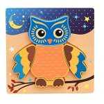 Kxtffeect Wooden Owls Jigsaw Puzzle for Girls Boys Toddlers Babies Kids, Educational Puzzle Toys for 2-5 years